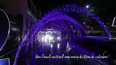 Túnel Encantado Center Shopping Uberlândia 2018