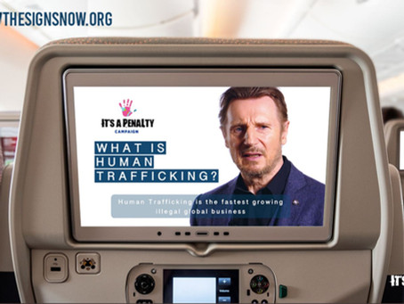 LIAM NEESON TEAMS UP WITH IT'S A PENALTY CAMPAIGN TO HELP END HUMAN TRAFFICKING & EXPLOITATION