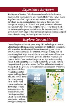 Baytown GeoTour Passport Page 2