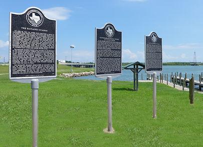 Historical Markers at Bayland Park