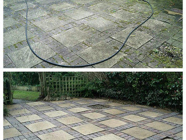 Patio Pressure Washing April