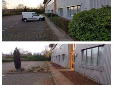 Commercial Border Clearance and stone chipping and fresh shrubs planted
