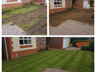 Front lawn re-turfing!