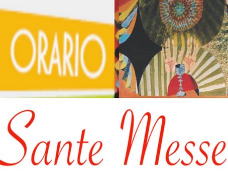 Da lunedì 6 settembre l'orario delle Sante Messe feriali e festive tornerà ad essere il consueto...