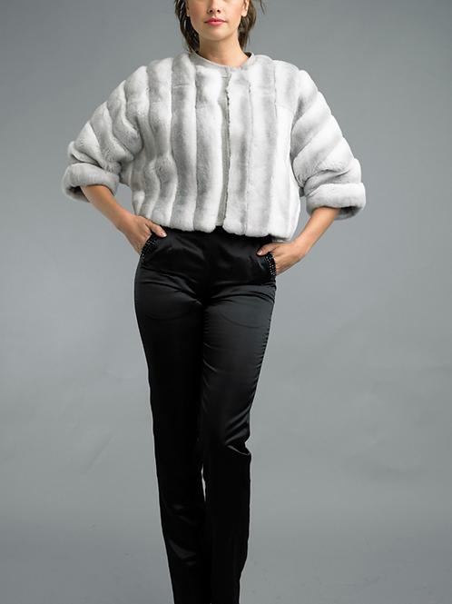 Cropped Rex Fur Jacket