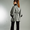 Thumbnail: Cashmere/wool blend belted long cape with Rex Rabbit fur collar