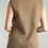 Thumbnail: Long Cashmere Blend Leather Belt Rabbit Fur Vest