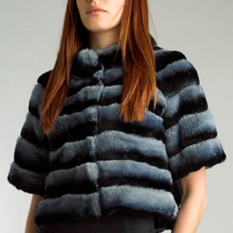 Rex Fur Applique onto Suede Jacket