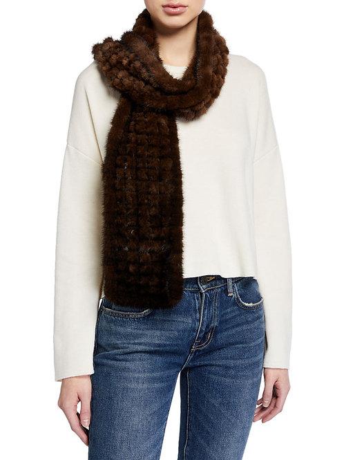 Woven Mink Fur Scarves