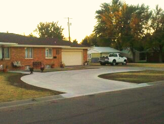 Concrete Circle Driveway