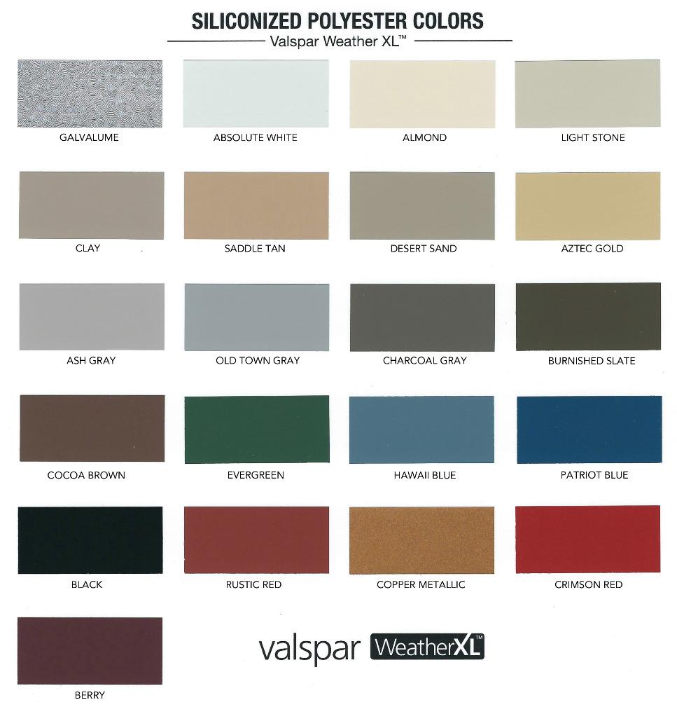 TITAN Color Sheet