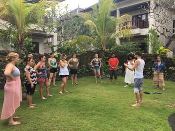 Ubud Bali group meditation