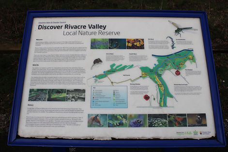 Discover Rivacre Valley information board
