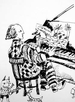 Geplaagde pianist