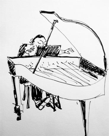 Bevlogen pianist