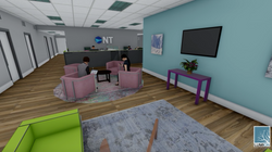 Lounge area for admin building