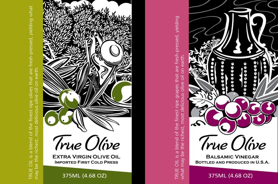 Custom Olive Oil Labeling