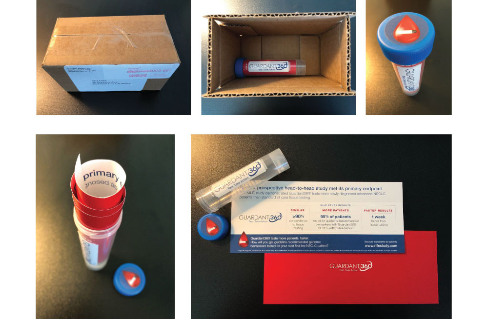 Educational Promo encased in a blood tube