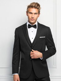 Ultra Slim Black Sterling Suit