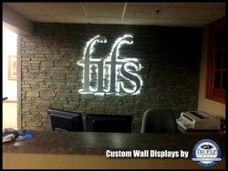 Foyer Sign and Faux Stone Wall