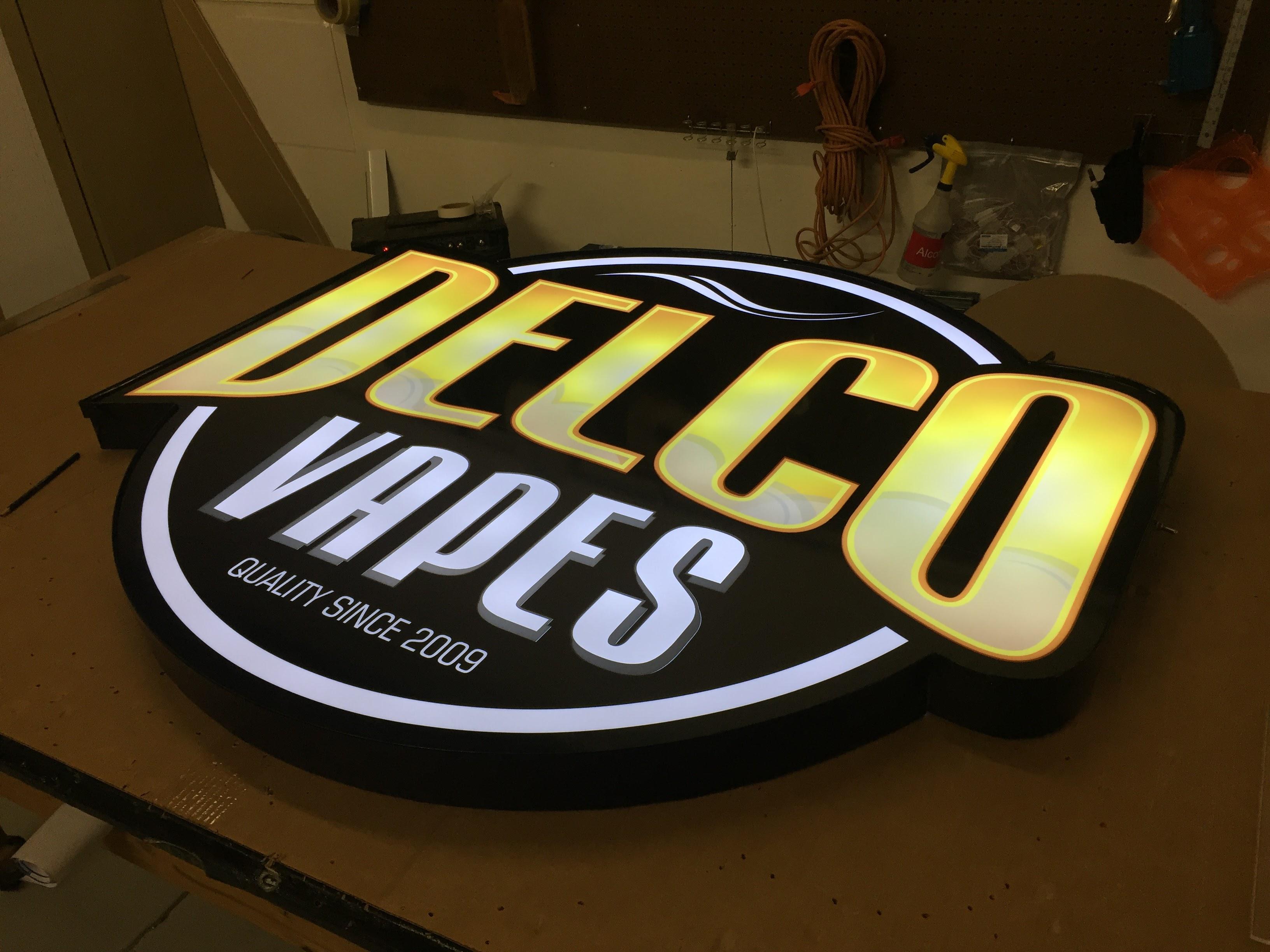 LED Lit Interior Sign