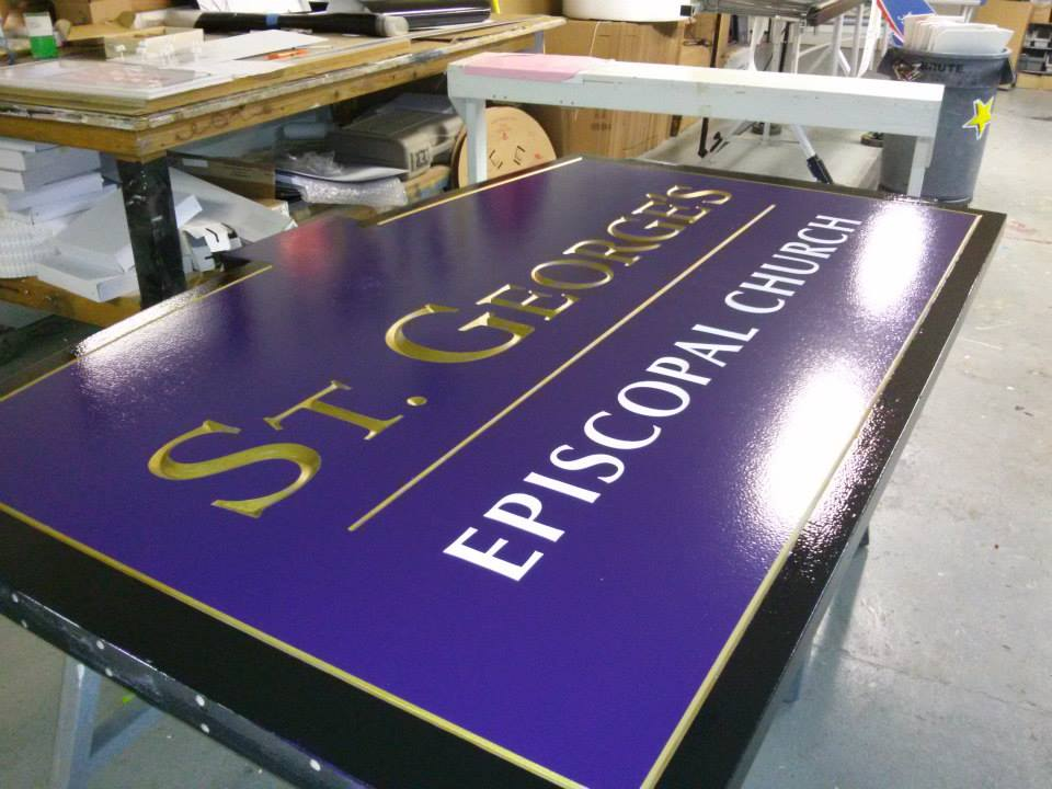 Carved Urethane Sign