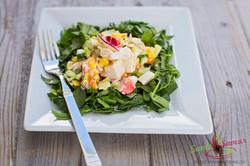 Salade festive à la goberge