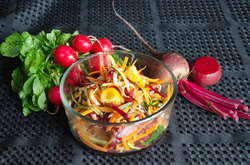 Salade de juliennes de légumes