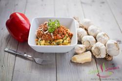 Rotini aux légumes et sauce à spagh