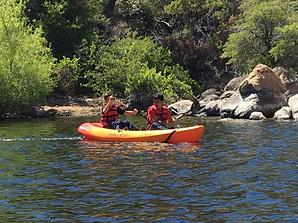 Horizon Church Tucson Youth Group - Kayaking in River adventure shot.