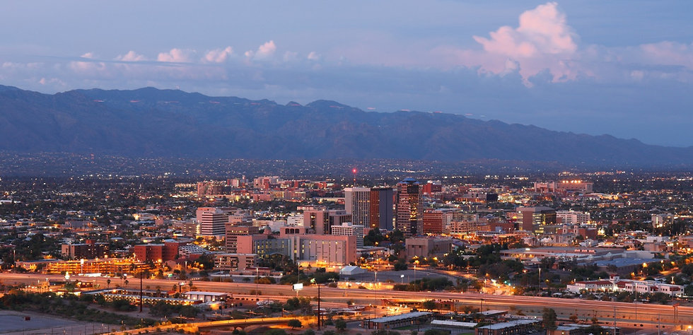 Tucson Skyline Showing the Downtown of T