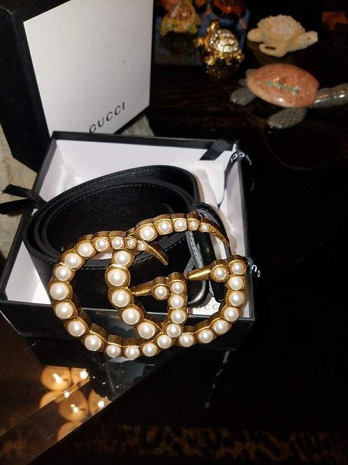 Oversize Gucci Pearl Belt