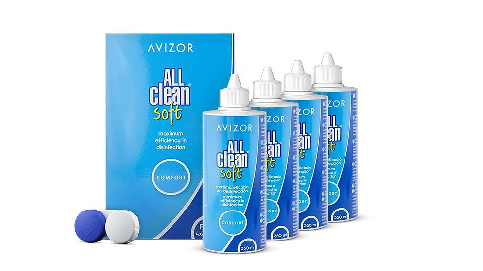 All-Clean Soft Contact Lens Solution 4 x 350ml +free 100ml pack