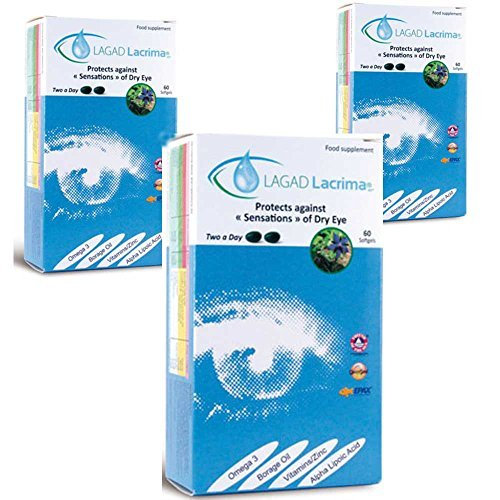 Lagad Lacrima Dry Eye Nutritional Supplements 3 Month Pack (180 capsules)