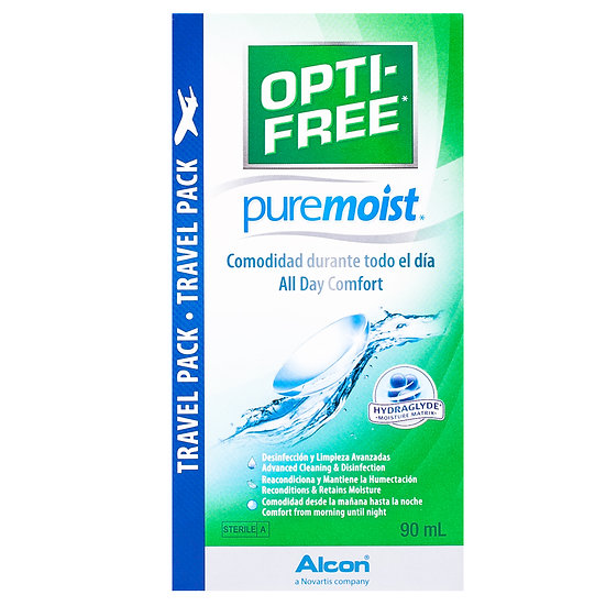 Opti-Free PureMoist contact lenses solution (1 x 90 ml) Travel pack