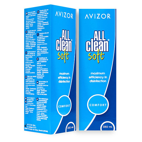 All Clean Soft 2x 350ml contactlenses solution +free 60ml pack
