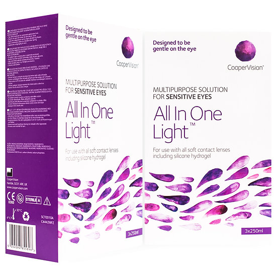 All In One Light Multipurpose Solution (6 months supply)Free 60ml pack