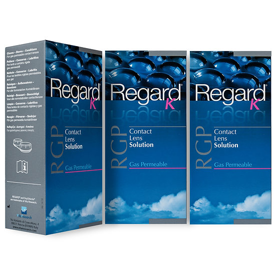 Regard K RGP Contact Lens Solution 3 x 120 ml - 3 month supply
