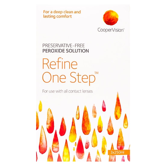 Coopervision Refine One Step 3 x 250ml Pack plus free 60ml pack