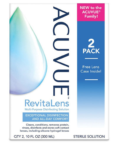 AcuVue Revitalens Twin Pack AcuVue Revitalens Plus free 60ml pack