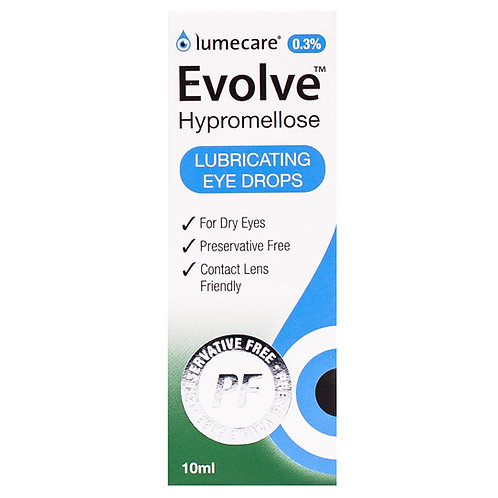 Evolve Hypromellose 0.3% eye drops