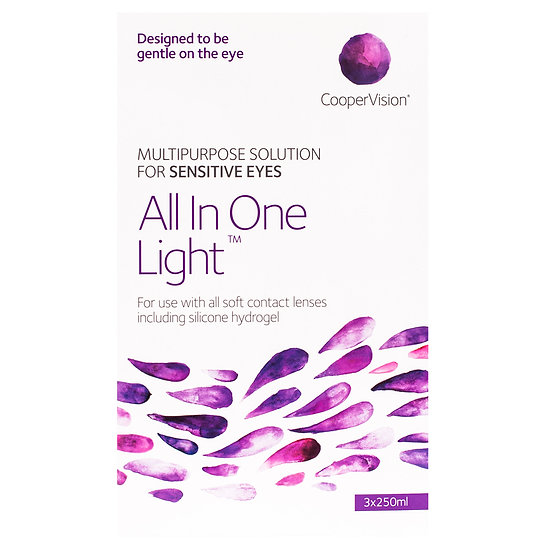 All In One Light- Multipurpose Solution - 3x250ml Pack. Free 60ml pack