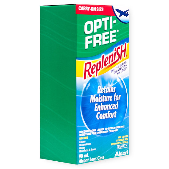 Opti- Free RepleniSH Flight Pack (90ml) Contact Lens Solution