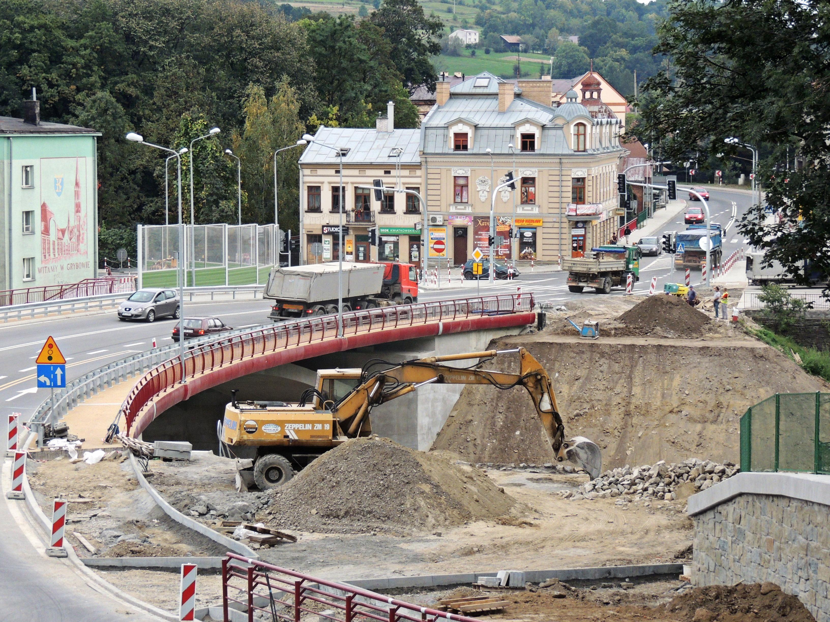 Nowy most drogowy - budowa