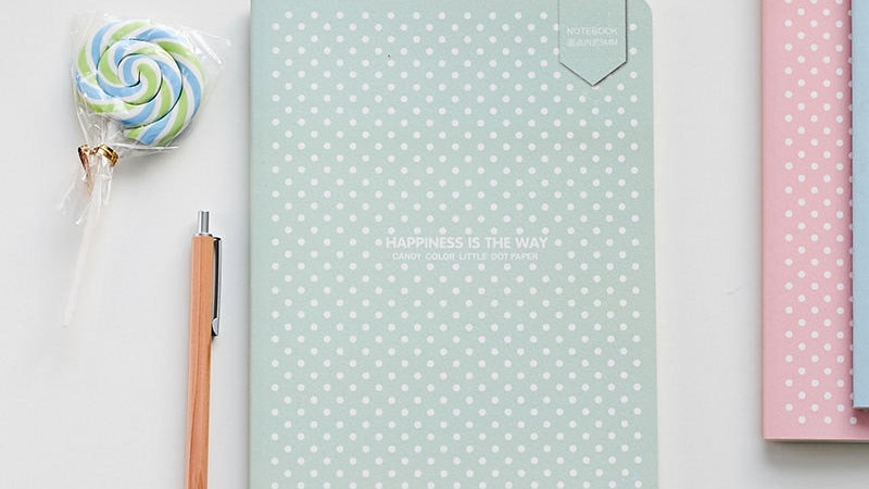 Dotted Bullet Notebook Dot Grid Journal Simple Small Diary Soft Cover