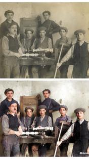 W zakładzie stolarskim Sekułów, ul. Siołkowska