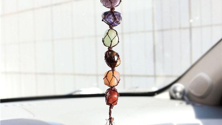 Tumbled Gemstone Tassel Spiritual Meditation Hanging/Window/Feng Shui