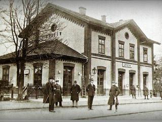 Stary dworzec kolejowy w Grybowie