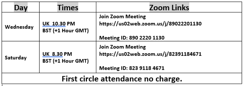 Zoom times and links for Circles.PNG