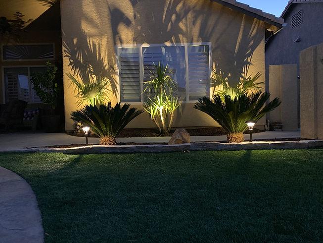 Backyard landscape lighting design Las V